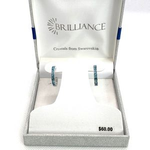 Earrings Brilliance with Blue Swarovski Crystals